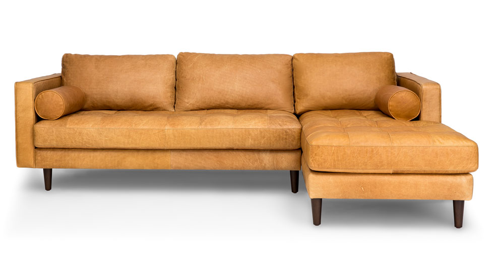 Creative of Tan Leather Sectional With Chaise Lovable Tan Leather Sectional Sofa Interiorvues