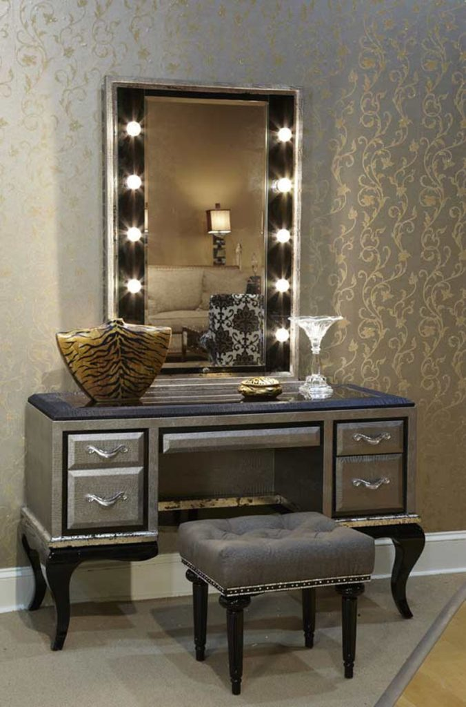Creative of Vanity With Mirror And Stool Glass Vanity Table With Mirror Home Furnishings