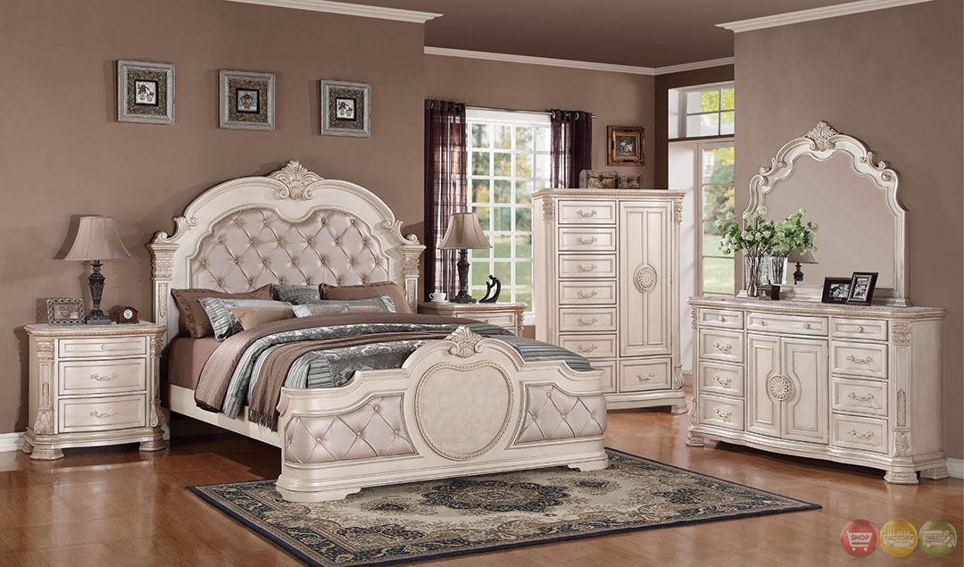 Creative of White Bedroom Furniture Sets Unique Antique Traditional Distressed Antique White Upholstered