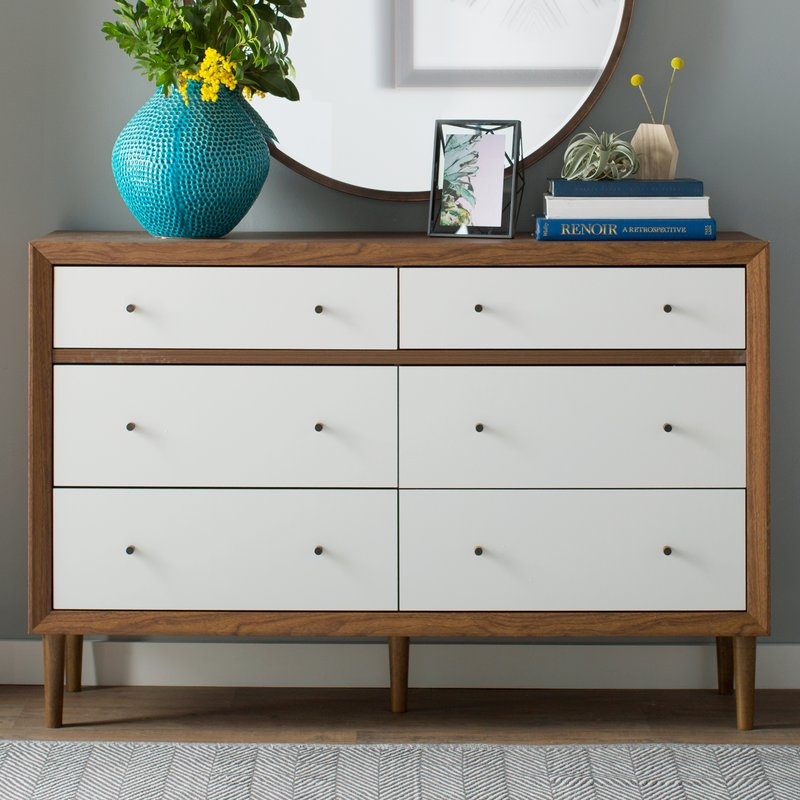 Creative of White Dresser With Brown Top Dressers Chest Of Drawers