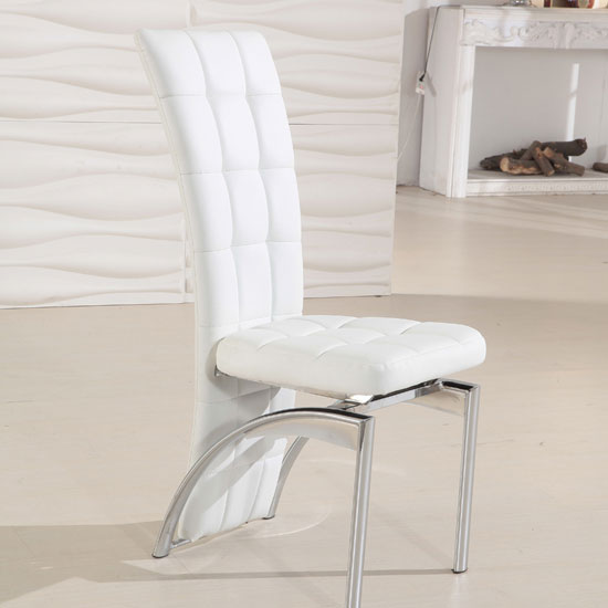 Creative of White Leather Dining Chairs With Arms Chairs Astounding White Leather Dining Chairs White Leather