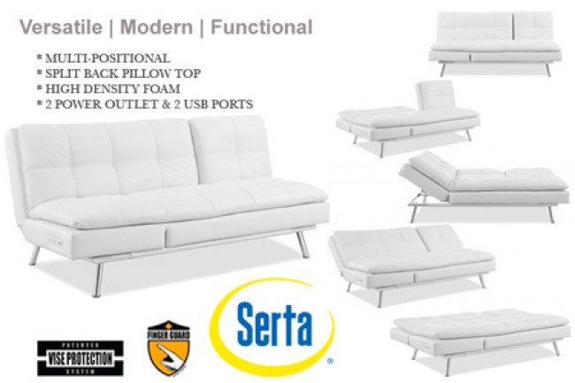 Creative of White Leather Futon Sofa White Leather Futon Sofa Bed Palermo Serta Euro Lounger The