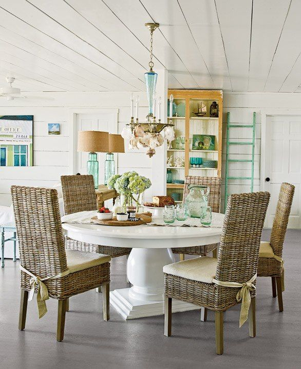 Creative of White Parsons Chairs Dining Room 61 Best Beach House Dining Rooms Images On Pinterest Beach