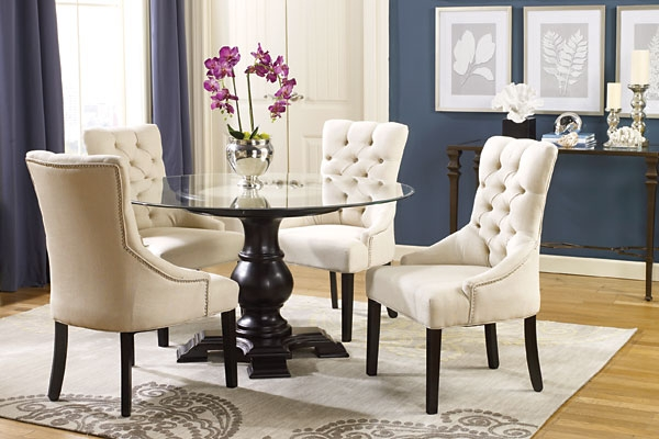 Creative of White Tufted Dining Chairs Dining Room White Tufted Chairs Contemporary Lux Design Sets