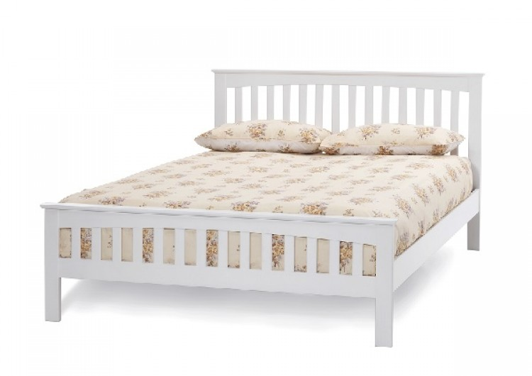 Creative of White Wooden Bed Frame Serene Amelia 4ft6 Double White Wooden Bed Frame Serene Furnishings