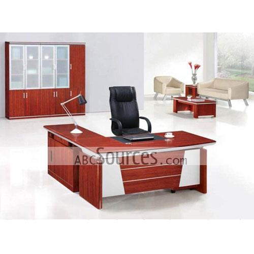 Creative of Wholesale Office Furniture Wholesale Exquisite Red Wooden And Silver Design Simple Office