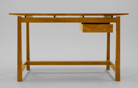 Creative of Wood Desk Designs Built Dornob A Single Board Solid Wood Desk Design