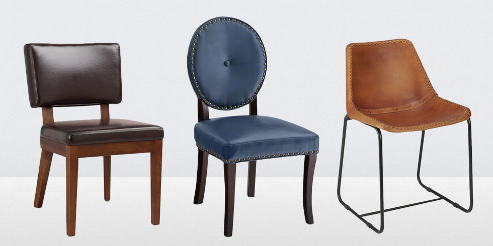 Creative of Wood Dining Chairs With Leather Seats 13 Best Leather Dining Room Chairs In 2017 Leather Side Arm