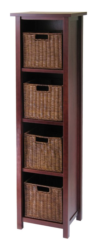 Elegant 4 Drawer Wood File Cabinet Red Barrel Studio Bunker Hill 4 Drawers Tall Storage Shelf