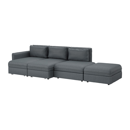 Elegant 4 Seater Sofa Ikea Vallentuna 4 Seat Sofa With Bed Hillared Dark Grey Ikea