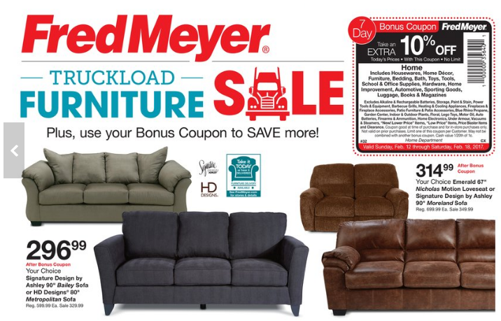 Elegant Ashley Furniture Bailey Sofa Fred Meyer Truckload Furniture Event Couches Under 300 5 Pc