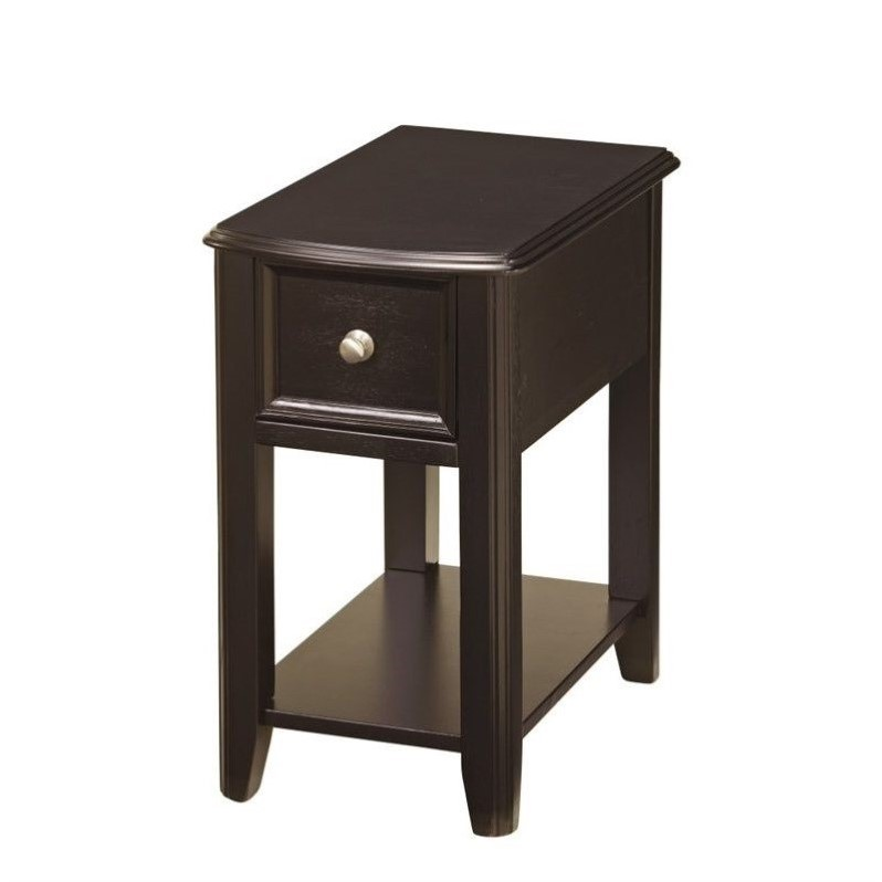 Elegant Ashley Furniture Black Nightstand Ashley Furniture Breegin 1 Drawer End Table In Almost Black T007 371