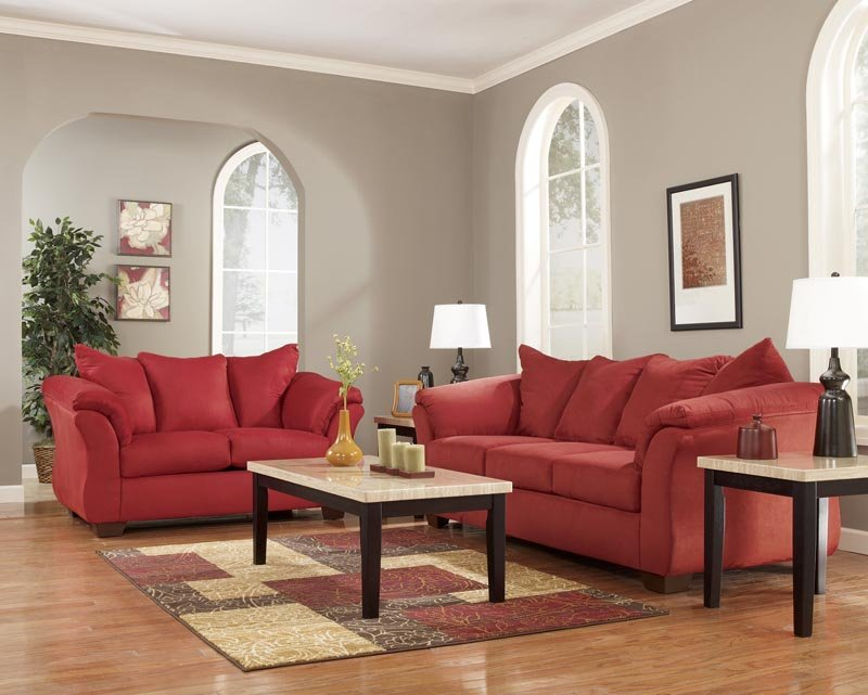 Elegant Ashley Furniture Sofa And Loveseat Sets Rent To Own Ashley Darcy Sofa Loveseat Set In Salsa Appliance