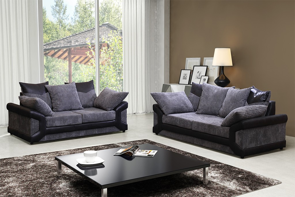 Elegant Brown And Grey Sofa Dino Sofa Range Jumbo Cord 32 In Black Grey Or Brown And Beige