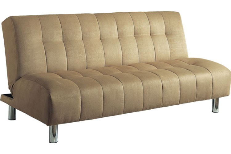 Elegant Brown Futon Sofa Bed Convertible Futon Couch Sleeper Beige Chelsea Futon The Futon Shop