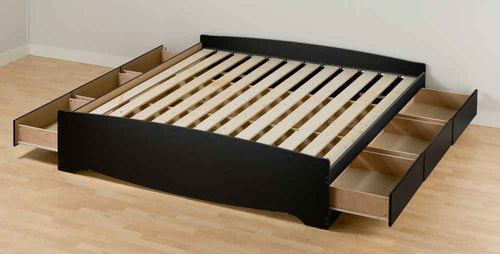 Elegant California King Wood Platform Bed Frame Build California King Storage Bed Modern Storage Twin Bed Design