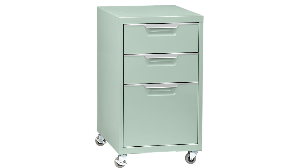 Elegant Colored File Cabinets Tps Mint 3 Drawer File Cabinet Cb2
