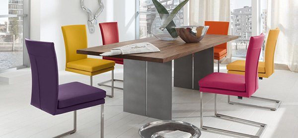 Elegant Coloured Dining Room Chairs A Burst Of Colors From 20 Dining Sets With Multi Colored Chairs