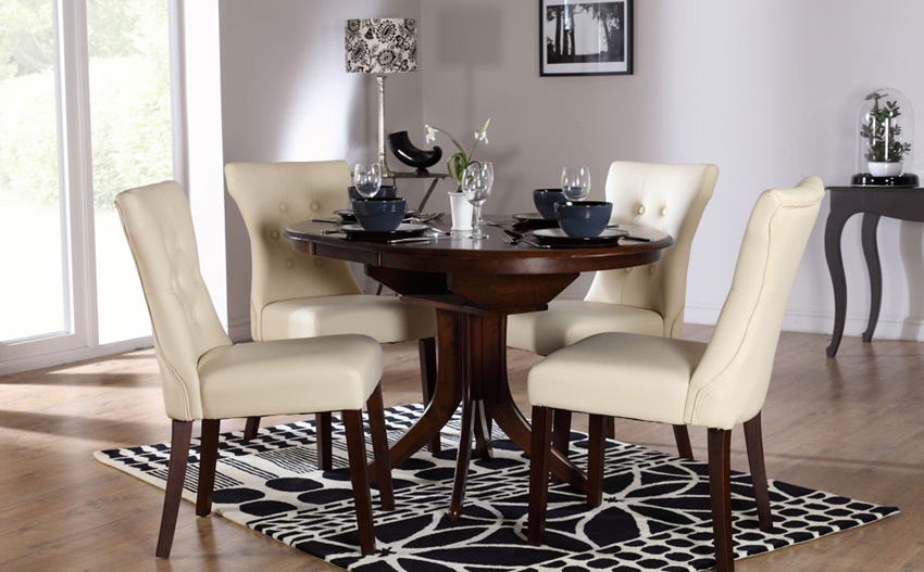 Elegant Dark Wood Round Table Dark Wood Round Dining Table And Chairs Insurserviceonline