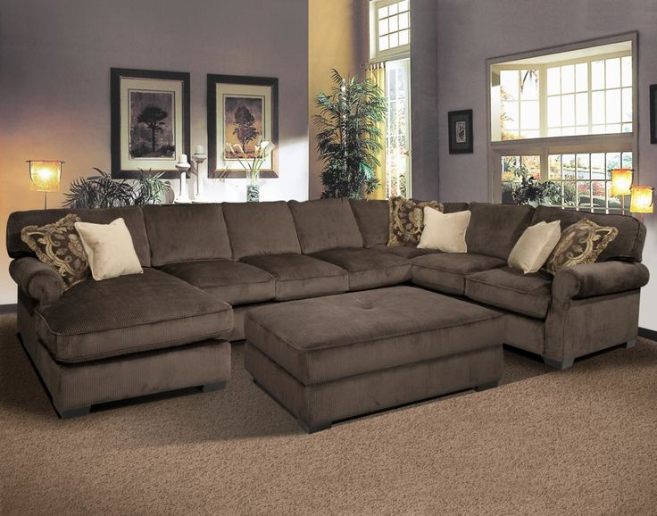 Elegant Deep Sectional Sofas Living Room Furniture Best Contemporary Sectional Sofa With Oversized Ottoman Household
