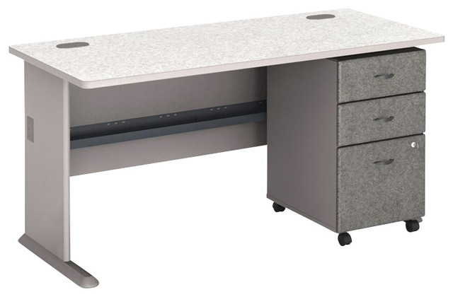Elegant Desk With Filing Cabinet Drawer Bush Series A 60 Computer Desk With 3 Drawer File Cabinet In