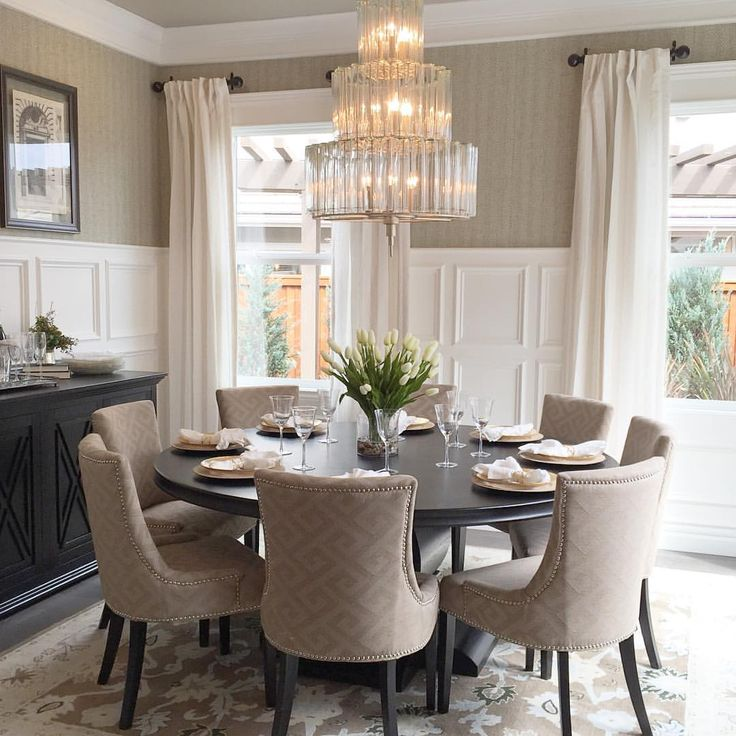 Elegant Dining Room Tables Round My Sweet Friend Julie Juliesheartandhome Who I Adore Asked Me To