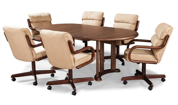 Elegant Dining Table Chairs With Armrests 5 Pc Douglas Casual Living