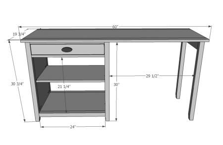 Elegant Diy Computer Desk Plans Schematicsplans For A Simple Computer Desk Living Room Home