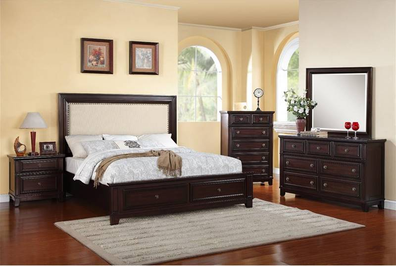 Elegant Fabric Headboard Bedroom Sets Dallas Designer Furniture Harwich Bedroom Set With Upholstered