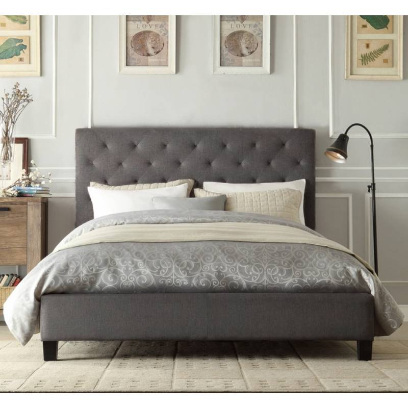 Elegant Fabric Queen Bed Frame Chester Queen Size Buttoned Fabric Bed Frame Grey Buy Queen Bed