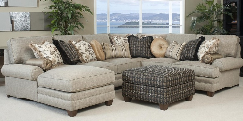Elegant Fabric Sectional Sofa With Recliner Fabric Sectional Sofas With Chaise Sofamoe