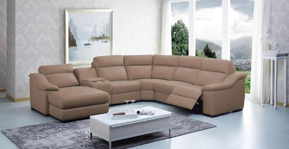 Elegant Fabric Sectional Sofa With Recliner Sofa Big Sectional Couch L Shaped Sofa Reclining Sectional Sofa