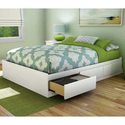 Elegant Full Bed And Frame South Shore Step One Fulldouble Storage Platform Bed Reviews