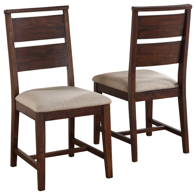 Elegant Furniture Chairs Dining Portland Solid Wood Dining Chairs Set Of 2 Transitional