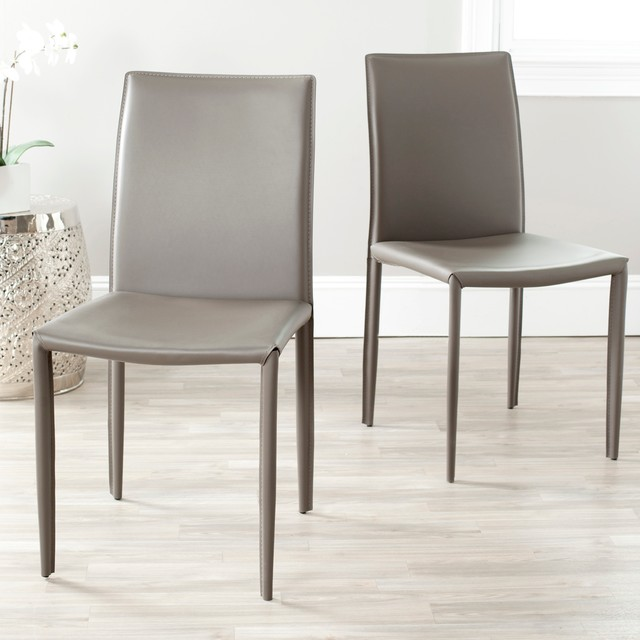 Elegant Gray Dining Chairs Gray Bonded Leather Dining Chair Dining Chairs Design Ideas