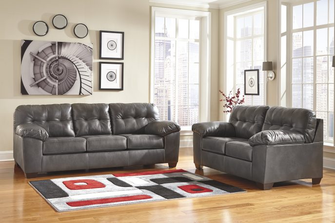 Elegant Gray Leather Sofa And Loveseat Sofas Wonderful Gray Leather Sofa Ashley Furniture Sectional