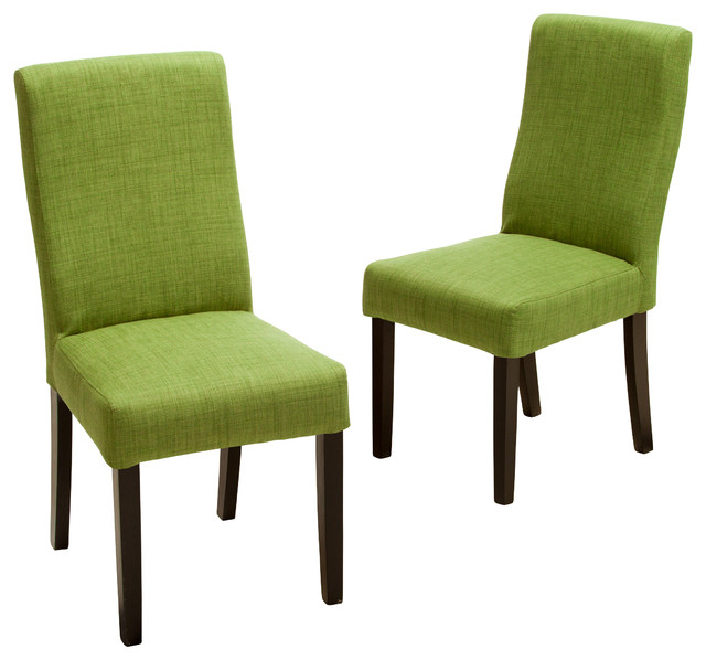 Elegant Green Dining Chairs Heath Fabric Dining Chairs Set Of 2 Contemporary Dining