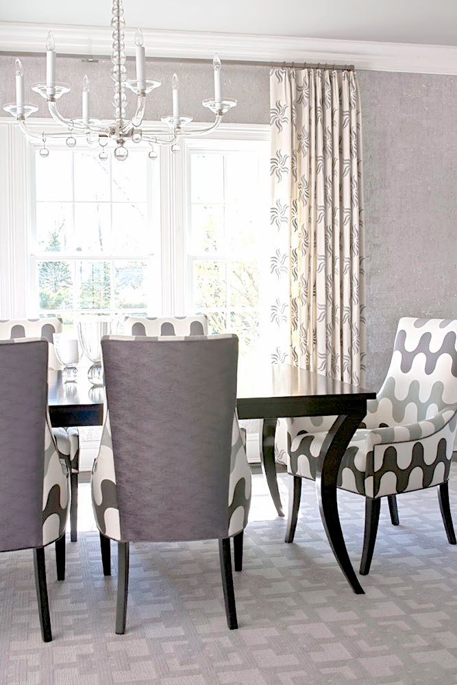 Elegant Grey Fabric Dining Room Chairs Designs Interior