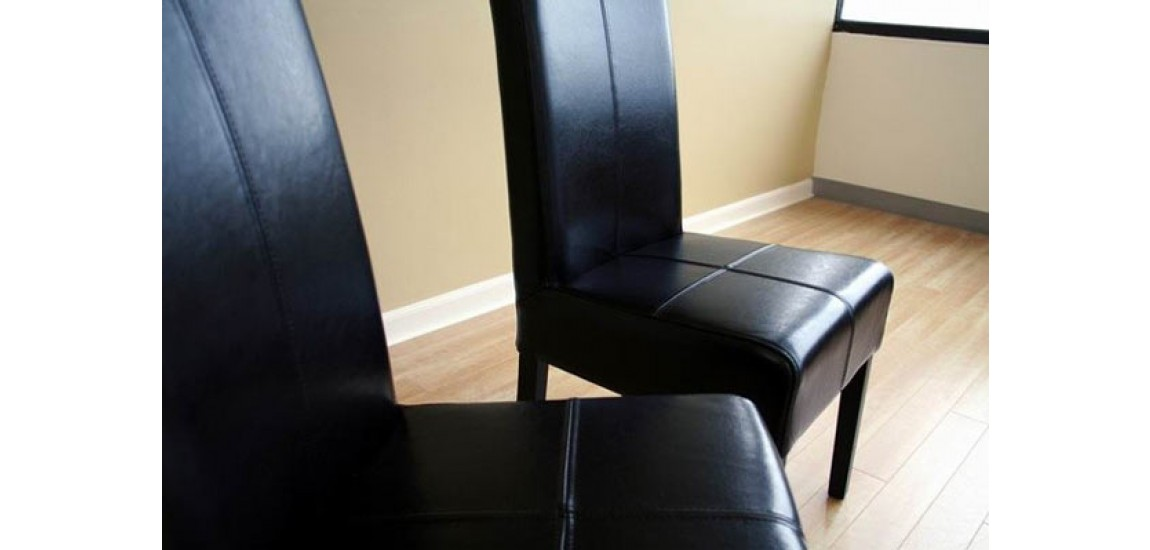 Elegant High Back Leather Dining Chairs Black Leather High Back Dining Chairs Set Of 2