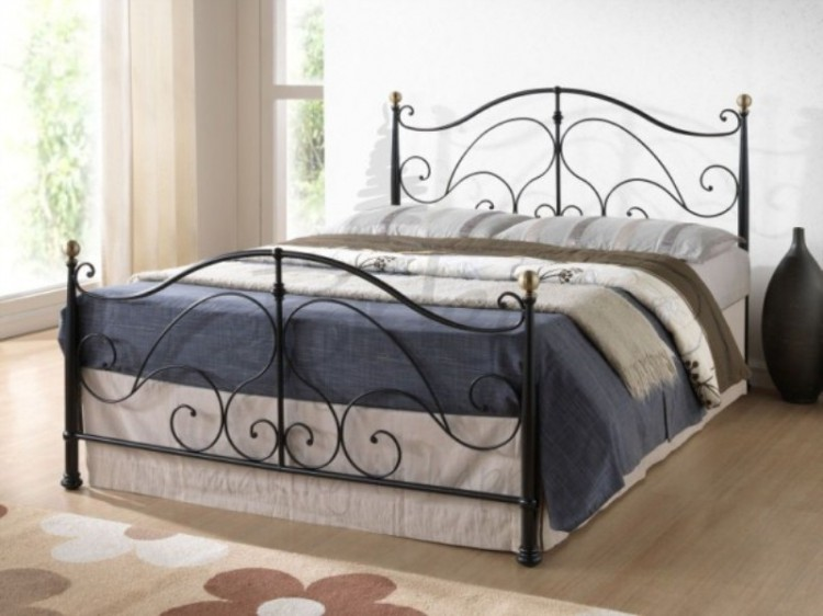 Elegant King Size Metal Bed Birlea Milano Black 5ft Kingsize Metal Bed Frame Birlea