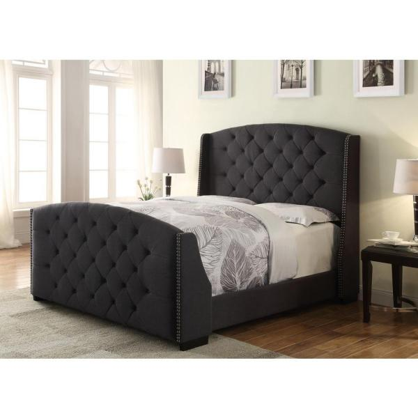 Elegant King Size Upholstered Headboard And Footboard Luxury Tufted Upholstered Headboard And Footboard 12 For Your King