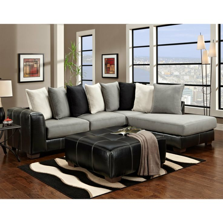 Elegant Leather And Cloth Sectional 40 Best Sectional Sofa Images On Pinterest Sectional Sofas