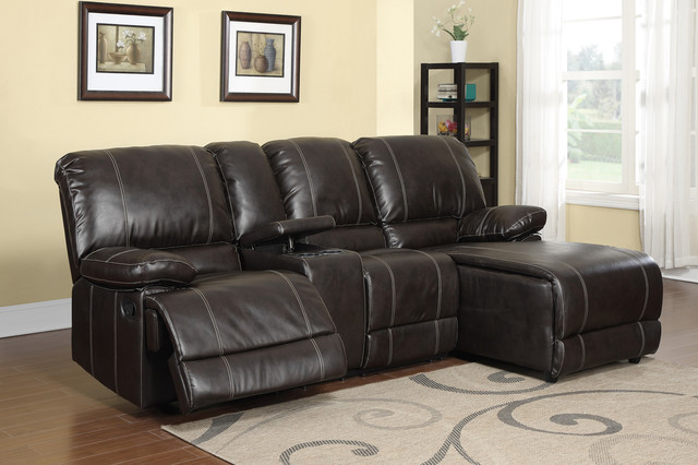 Elegant Leather Reclining Sectional With Chaise Lounge Sofa Design Modern Sofas For Small