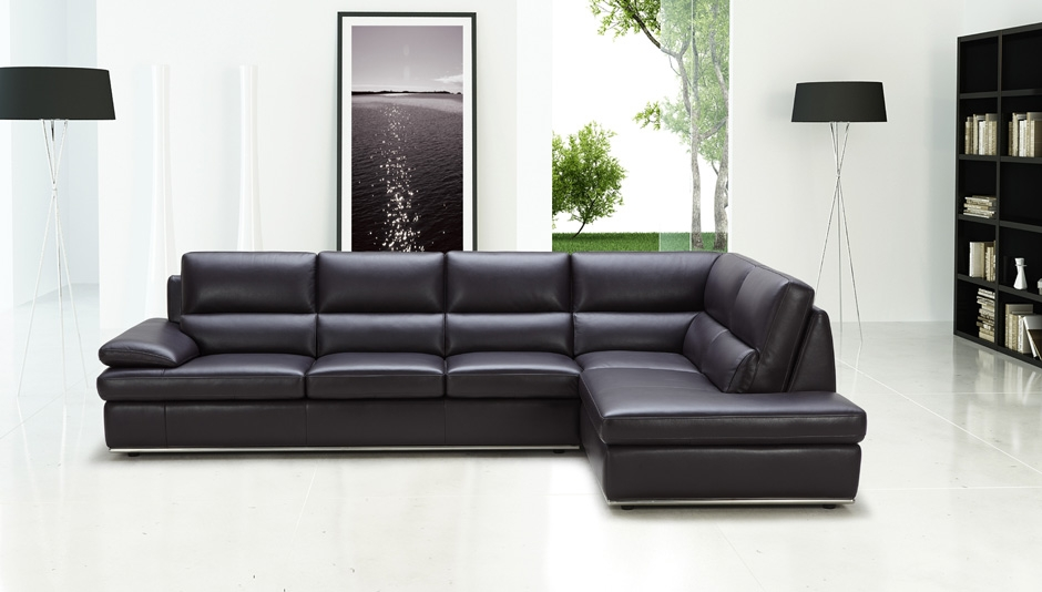 Elegant Leather Sectional Sofa With Chaise Sacramento Espresso Leather Sectional Sofa With Left Facing Chaise
