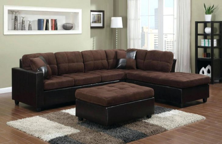 Elegant Microfiber Leather Sectional Sofa Sectional Brown Microfiber Sectional Sofa With Chaise Brown