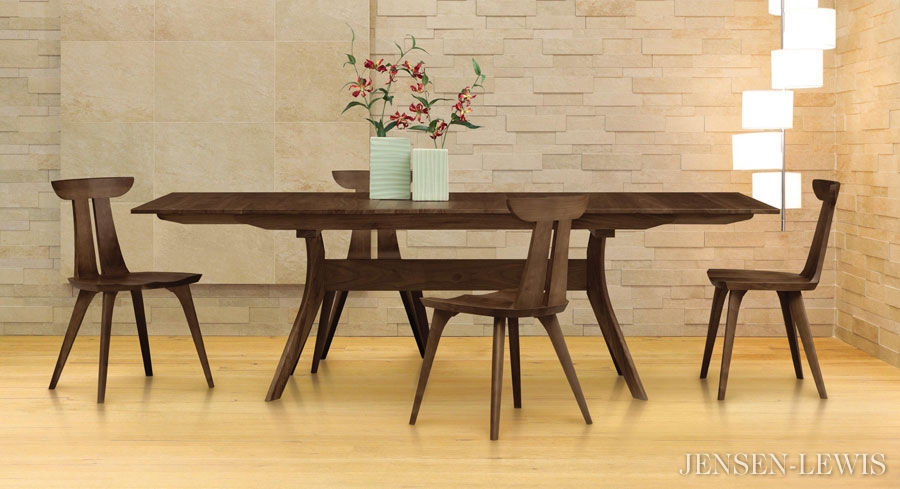 Elegant Modern Extension Dining Table Copeland Audrey Extension Dining Table 6 Aud 20 04 Jensen Lewis