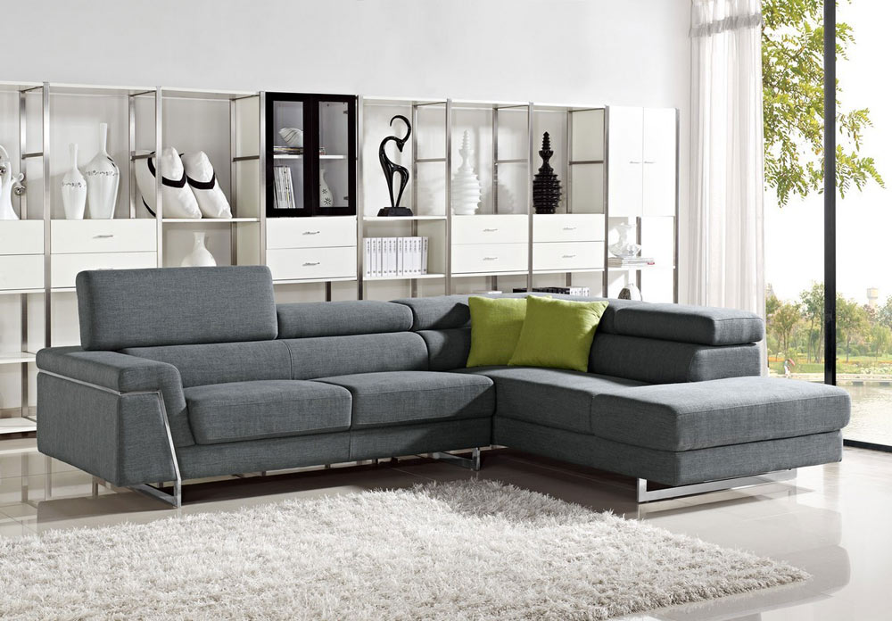 Elegant Modern Fabric Sofa Designs Justine Modern Fabric Sectional Sofa Set Fabric Sectional Sofas