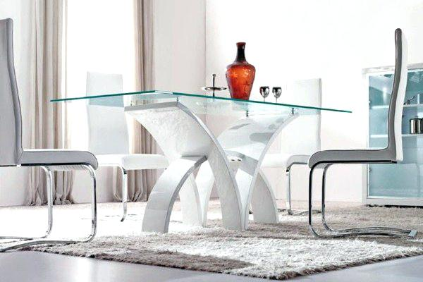 Elegant Modern Glass Dining Table Set White Glass Dining Table Sets Zagonsco