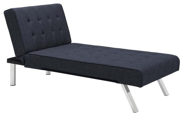 Elegant Navy Blue Chaise Lounge Indoor Dhp Emily Faux Leather Chaise Lounge White Contemporary