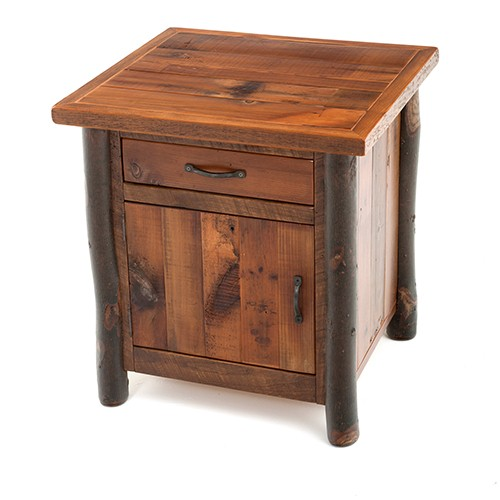 Elegant Nightstand With Door And Drawer Amazing Of Nightstand With Drawer And Door Rustic Aspen Log